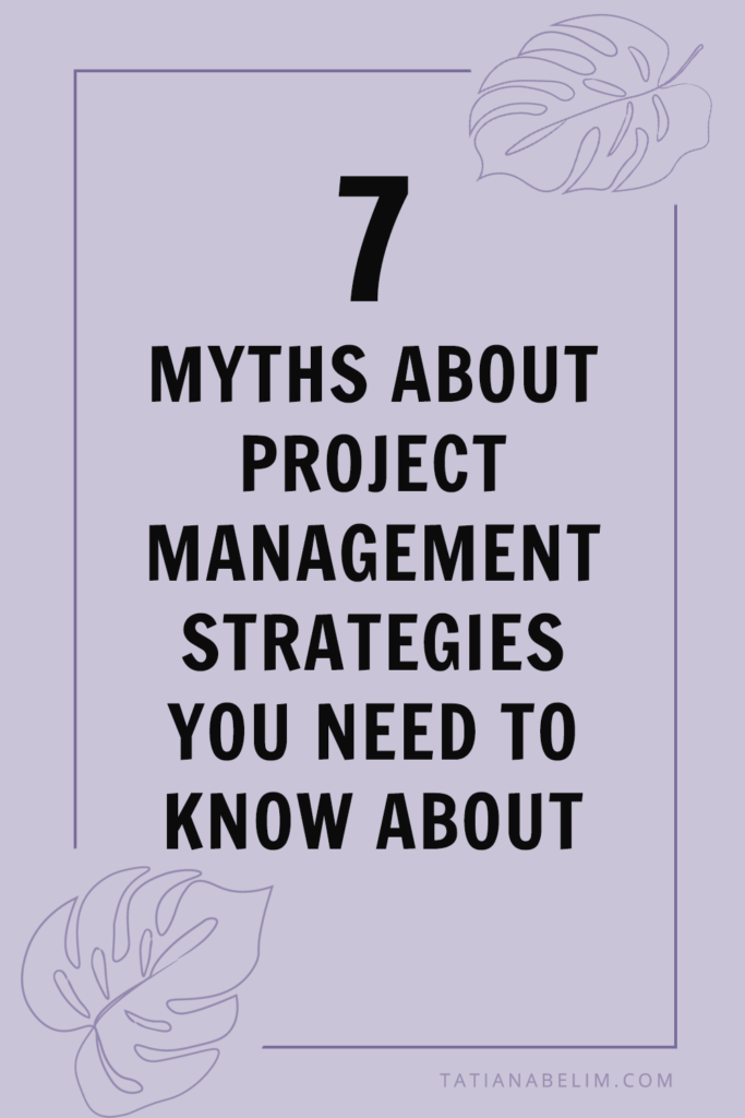 7 Myths About Project Management Strategies You Need To Know About   Tatiana Belim